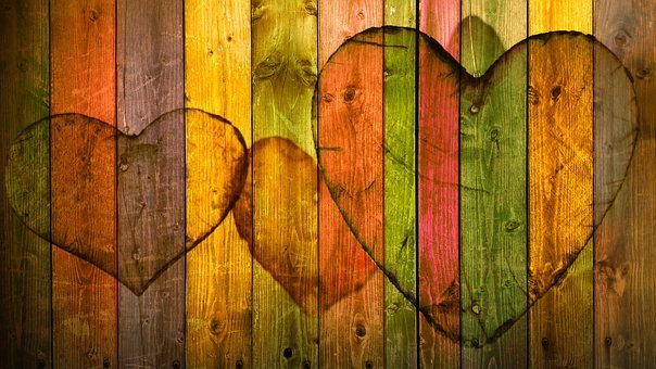 Heart, Love, Wood, Boards, Branches, Spruce