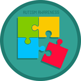 Autism, Awareness, Puzzle, Icon, Day, World, April