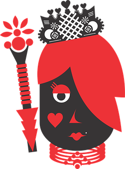 Queen, Hearts, Suit, Crown, Letters, Deck, Game