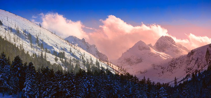 Mountain, Peak, Winter, Snow, Travel, Nature, Landscape