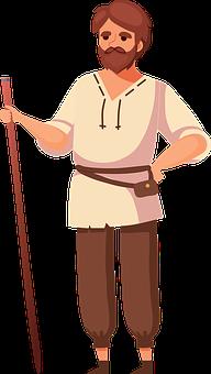 Peasant, Farmer, Agricultural, Man, Nature, Field
