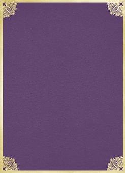 Purple And Gold Foil, Art Nouveau