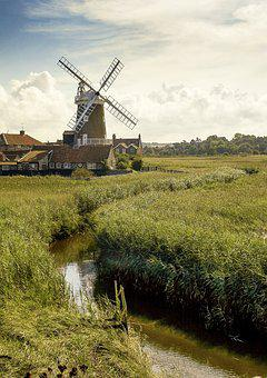 Cley Windmill, Windmill, Norfolk, England, Landscape