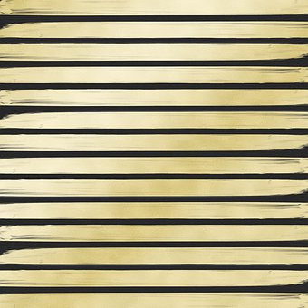Gold Foil Paint Stripes, Striped Gold And Black Paper