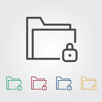 Lock, Folder, Icon, Data, Document, Symbol, Security