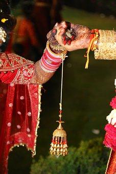 India, Marriage, Couple, Hand, Mehndi