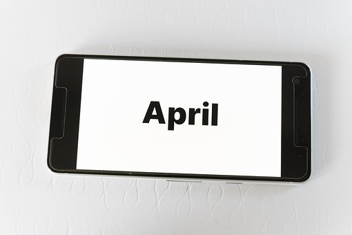 April, Month, Time, Calendar, Schedule, Date, Organizer