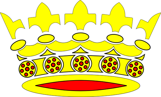 Crowns, Golden, Yellow, Red, Designs, Patterns, Royal