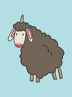 Sheep, Goat, Cute, Adorable, Animal, Farm, Unicorn