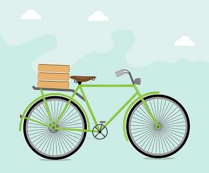 Cycle, Bicycle, Load, Green, Bike, Shipping, Deliver