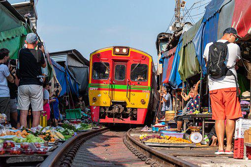 Train, Railway, Market, Subway, Railroad, Travel, Rails