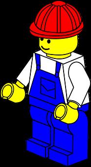 Lego, Man, Construction, Helmet, Toy, Piece, Worker