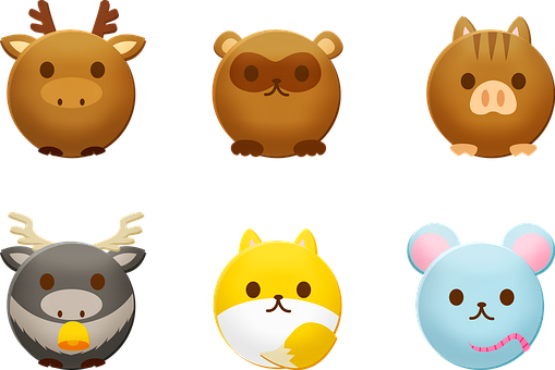 Round Animals, Reindeer, Mouse, Beaver, Mammal, Cow
