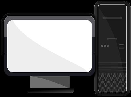 Desktop, Computer, Monitor, Screen, Display, Tower