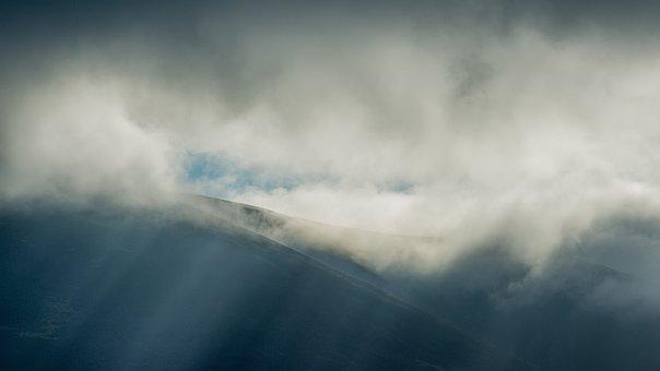 Clouds, Hills, Lake District, Sky, Landscape, Mountains