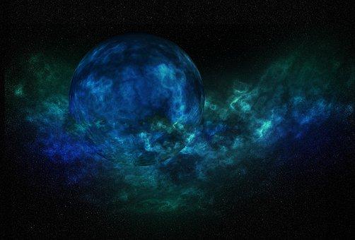 Blue, Planet, Galaxy, Space, Sci-fi, Explode, Nebula