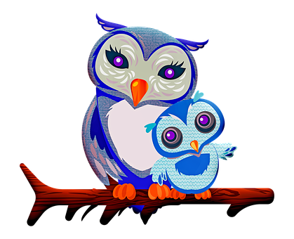 Owl, Mother Owl, Baby Owl, Nature, Mother, Family