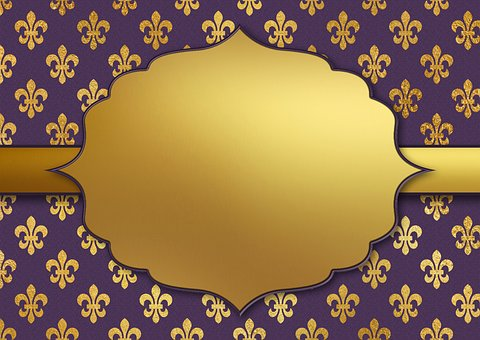 Background Image, Gold, Pattern, Frame, Template
