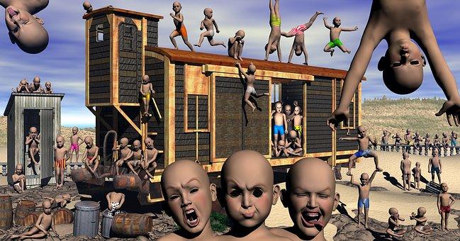 Dystopian, Future, Huxley, Crime, Children, Police