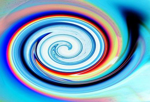 Swirl, Swirling, Blue, Shades, Hues