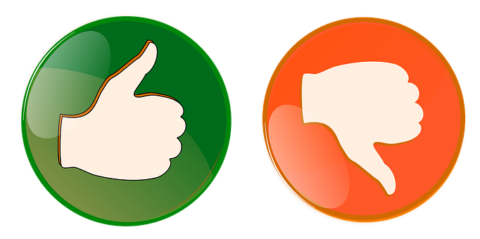 Right, Wrong, Button, Thumbs Up, Thumbs Down, Orange