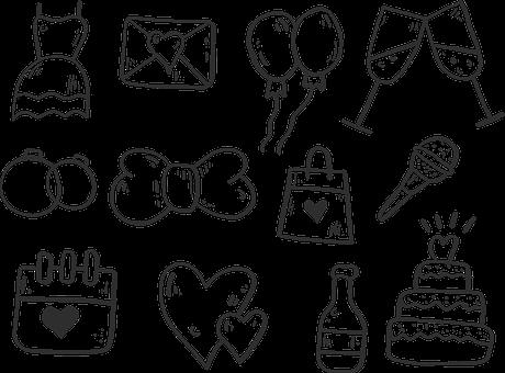 Wedding, Celebration, Icon, Marriage, Romantic