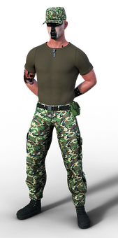Soldier, Uniform, Man, Casual, Expression, Person, Pose