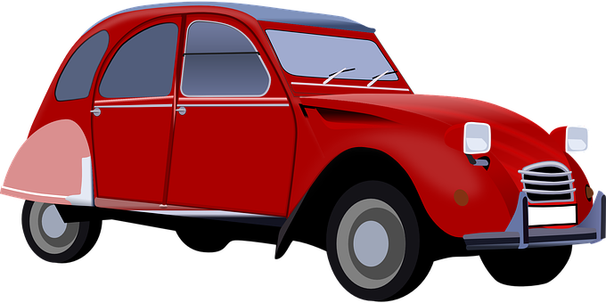 Car, Vehicle, Red, 2cv, Retro, Nice, Windscreen Wipers