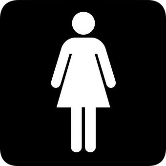 Sign, Toilet, Washroom, Gender, Symbol, Public, Women