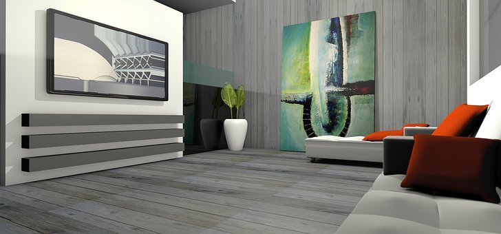 Living Room, Spatial, Apartment, Graphic, Rendering