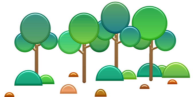 Abstract Trees, Round, Green, Tree