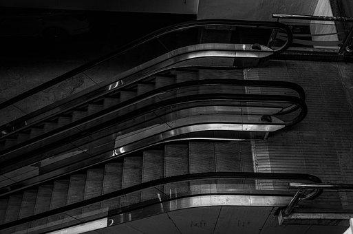 Black White, The Escalator, Mall