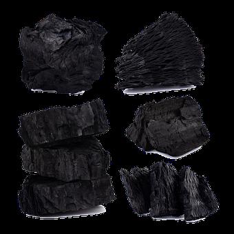 Charcoal, Activated Charcoal, Hardwood, Black, Dark