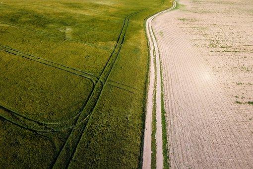 Field, Landscape, Lane, Arable, Agriculture