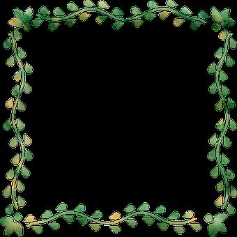 Botanical Square Frame, Frame, Leaf, Border, Floral