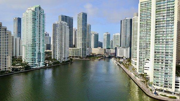 Miami, Usa, Downtown, Channel