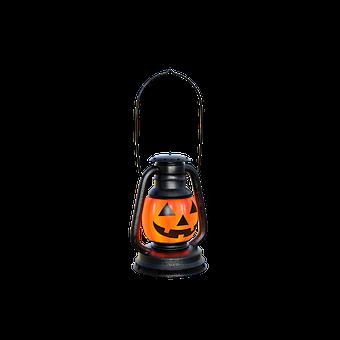 Halloween Lantern, Light, Pumpkin, Scary, Handle, Metal
