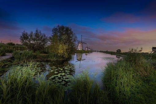 Kinderdijk, Netherlands, Holland, Mill, Tourism