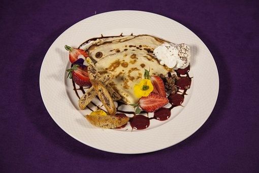 Food, Naleśnik, Pancake, Strawberry, Chocolate