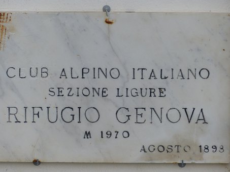 Information Board, Hut, Alpine Hut, Rifugio Genova