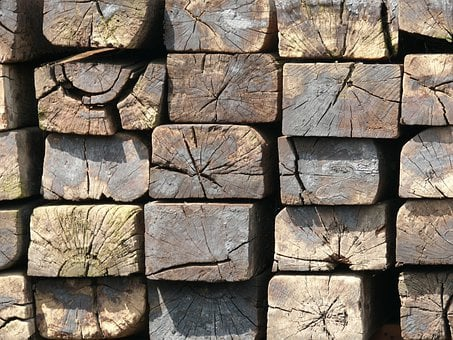 Railway Tracks, Crosstie, Wood, Beam, Bar, Wooden