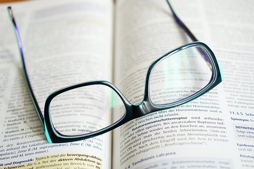 Glasses, Read, Learn, Book, Text, Highlighter, Pen