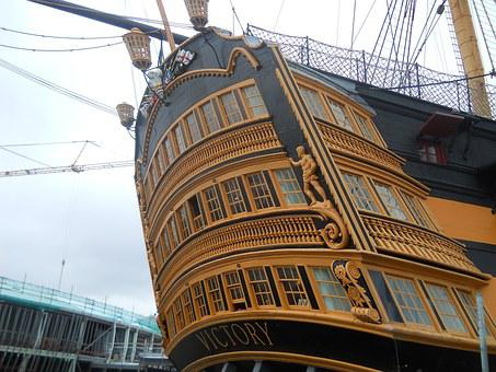 England, Passenger Ship, Victory, Port, Coast, Water