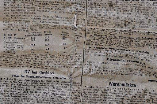 Newspaper, Daily Newspaper, Trade Newspaper, Paper