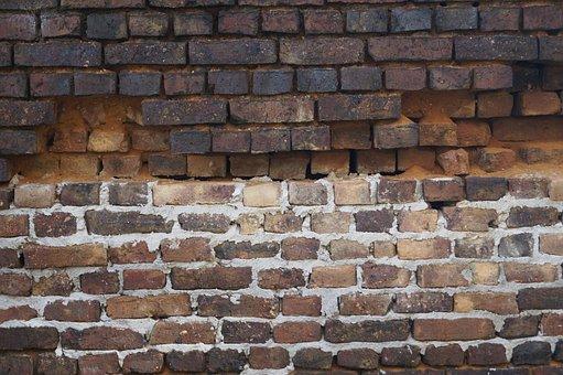 Wall, Stones, Stone Wall, Brick, Decay, Gaps, Cracks