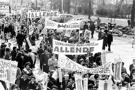Protest, Strike, Show Me, Demonstration, 1964, Allende