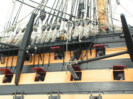 Hms Victory, Lord Nelson, Ship, Portsmouth, England