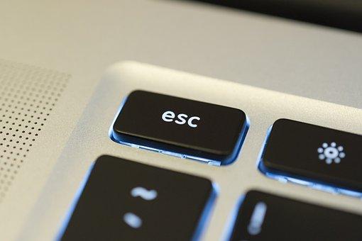 Esc, Escape, Key, Keyboard, Computer, Button