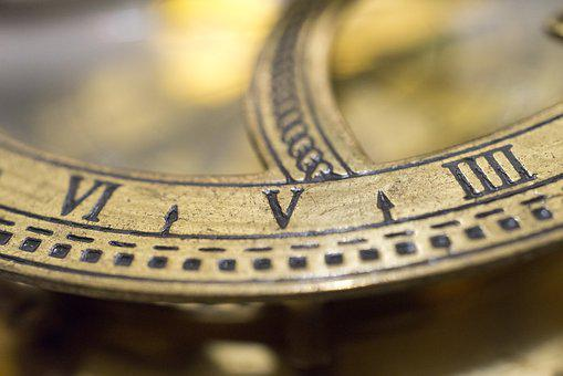 Compass, Five, Macro, Number, Roman, Old, Ancient, Sign