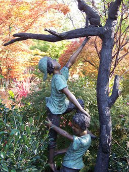 Statue, Bronze, Garden Statue, Garden, Sculpture
